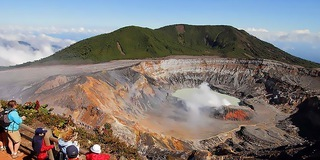 Alajuela is located in front of the active Poas Volcano, offering for a great day trip.