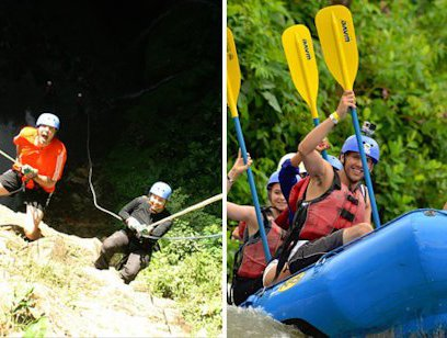 Rappelling and Rafting Combo