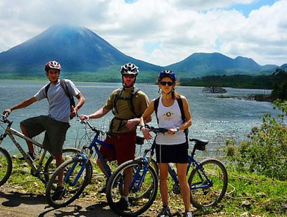 Biking at Lake Arenal