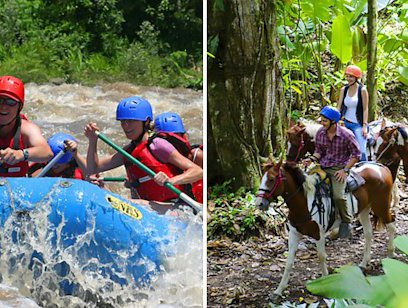 Horseback Riding and Rafting Combo