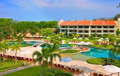 The five-star Westin Playa Conchal Resort provides a luxurious all-inclusive resort experience.