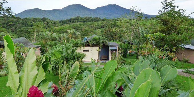Tenorio Lodge is a comfortable mountain lodge located between Tenorio and Miravalles volcanoes.  Hotel amenities include jacuzzi, restaurant, bar, nature trails, tropical gardens, and internet.