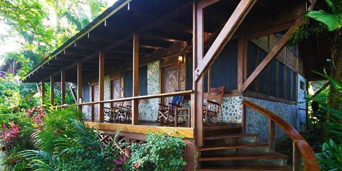 Aguila de Osa is a comfortable higher end eco-lodge located on a bluff overlooking Drake Bay.  Hotel amenities include restaurant, bar, nature trails, and internet.