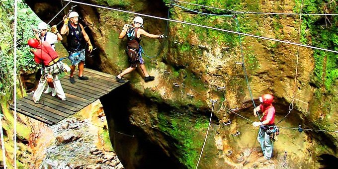 Canyon Canopy Zipline at Hacienda Guachipelin