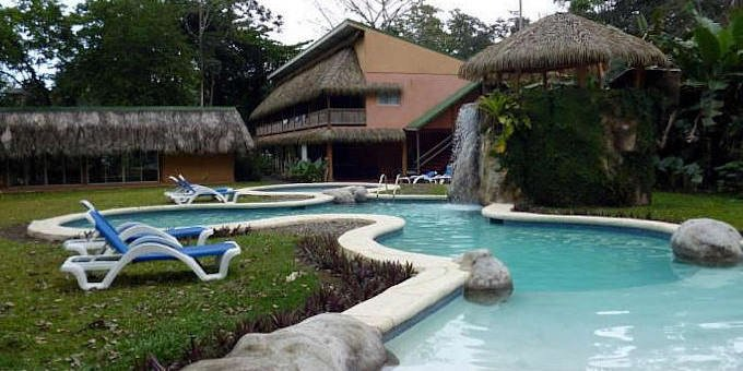 Villas del Caribe is located directly on the beach on the south Caribbean coast of Costa Rica. Hotel amenities include seaside restaurant, landscaped gardens, availability of surf boards, kayaks, boogie boards, and a variety of tours.