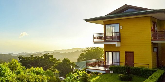 Set high up in the Monteverde hillsides of Costa Rica, Hotel Ficus is a modern and stylistic eco-friendly lodge set in the heart of Monteverde. The hotel is renowned for excellent service and is conveniently close to the Santa Elena village center, making trips to town very easy. It is also positioned close enough to all of the area attractions, so your days can be filled discovering and exploring the wonders of Monteverde. Lodge amenities include a restaurant and bar (often closed for lunch and dinner), and WiFi in some common areas.