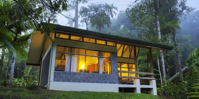 Las Cruces Biological Station Lodge is located near San Vito in Southern Costa Rica. The property is covered with tropical rainforest and gardens which are used by the Organization of Tropical Studies for research.  Hotel amenities include groomed trails and restaurant.