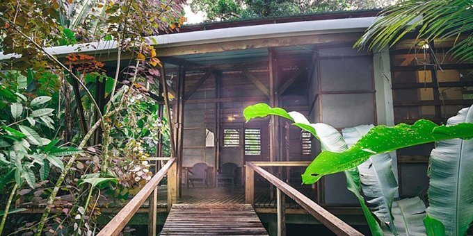 La Kukula Lodge is an eco-style lodge located at Puerto Viejo Talamanca. Hotel feature swimming pool, bar, restaurant, Wi-Fi and jungle gardens.