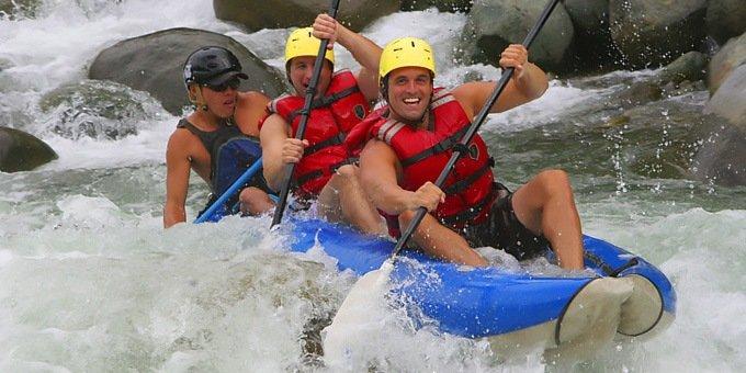 A day of adventure near Rincon de la Vieja National Park, including tubing and ziplining