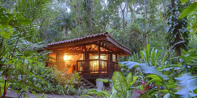 Playa Nicuesa Rainforest Lodge is a small eco-style luxury lodge located in Golfo Dulce, Peninsula de Osa. Hotel amenities include restaurant, bar, yoga area, gardens and jungle view.