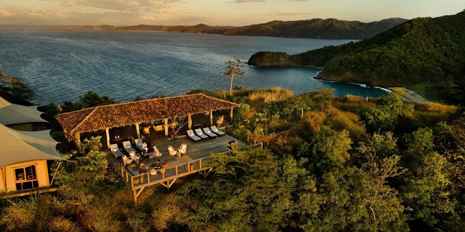 Kasiiya offers the ultimate in connecting with Nature on its 123 acres of Papagayo's pristine oceanfront jungle habitat.  A refreshing alternative to other mega resorts infiltrating the area, Kasiiya offers luxury tented suites architecturally designed to leave no lasting environmental imprint. Elevated wooden walkways connect the suites to common areas as well as provide pathways to the beach. All wood frame, glass, and tented suites have air conditioning, luxury bedding, a fully furnished outdoor living room on a private deck, indoor/outdoor showers, and dining area, all made from renewable natural materials. The electricity is solar and water is from natural springs and rain collection. Amenities include gourmet restaurant cuisine, guided yoga, meditation, fitness classes, kayaking, snorkeling, paddleboards, a climbing tree, solar powered golf cart assistance, hiking trails, walkie talkie communication devices, and headlamps for navigating at night.