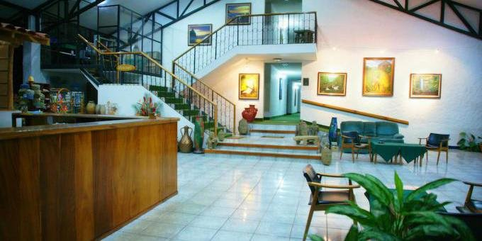 Hotel Aeropuerto is a budget oriented hotel located close to the airport in Alajuela.  Hotel amenities include swimming pool, wireless internet, conference room, restaurant and tropical gardens.