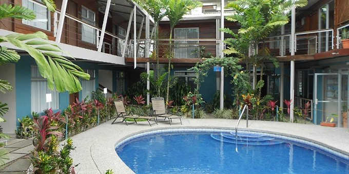 In-town convenience and affordability characterize Arenal Rabfer Hotel in La Fortuna. This small, family-owned hotel offers great access to all that la Fortuna has to offer. Hotel amenities include a swimming pool, restaurant, free parking, and complimentary WiFi access.