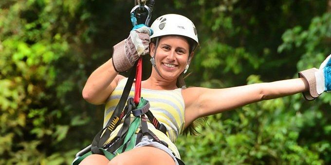 Canopy Ziplining through the rainforest