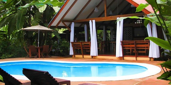 Namuwoki Lodge offers tastefully decorated bungalows with a Caribbean flair.
