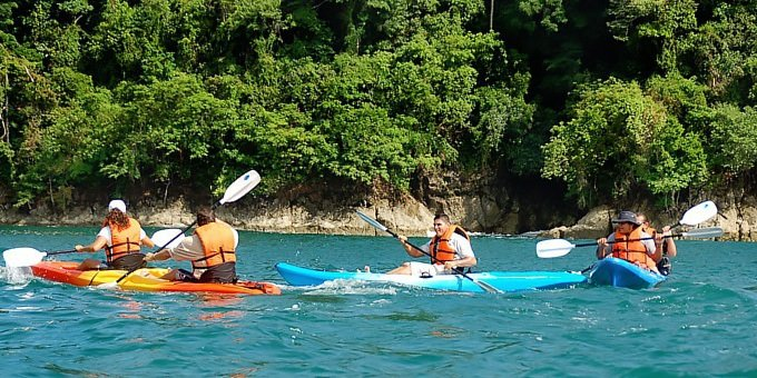 Manuel Antonio is an excellent place for coastal kayaking.