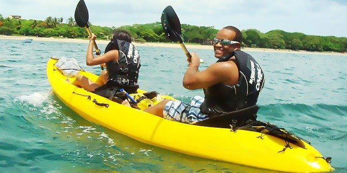 The coastline of Tamarindo is a beautiful place to explore by kayak.