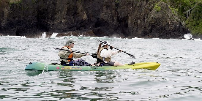 The Central Pacific coast is a beautiful place to explore, especially by kayak from December through April.