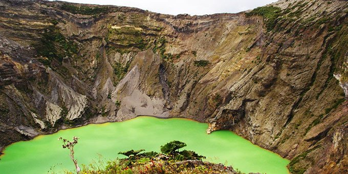 Irazu Volcano National Park houses the tallest volcano in Costa Rica at 11,260 feet in elevation.