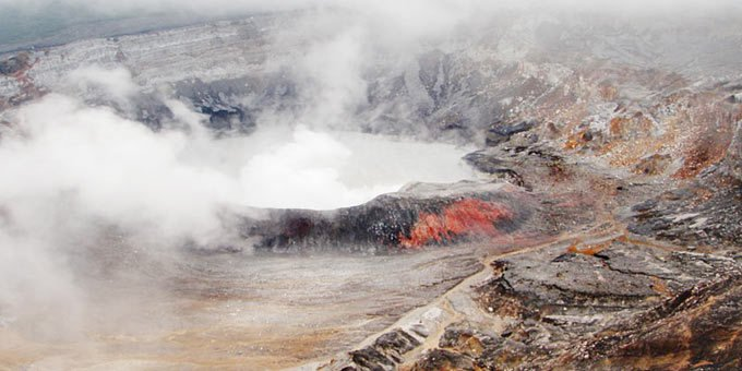 Poas Volcano National Park is located in the Alajuela Province and was established in 1971.