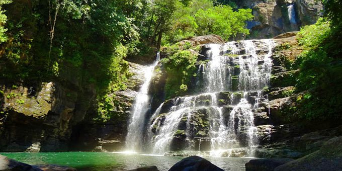 Nauyaca Waterfalls is an incredibly beautiful set of waterfalls hidden deep within the forests of the south Pacific.
