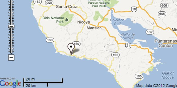 Google maps of costa rica playa samara map gumiabroncs