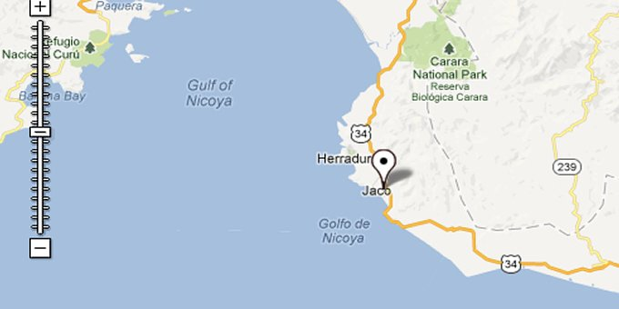 Map of jaco costa rica jaco map find your way around jaco costa rica gumiabroncs Image collections