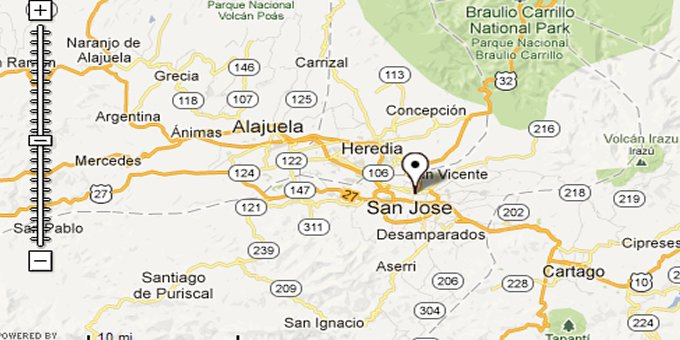 Find your way in San Jose, discover its many attractions and navigate easily to nearby towns like Heredia and Alajuela.