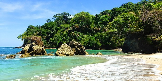 The Central Pacific coast of Costa Rica is a beautiful area sandwiched between towering cloud covered mountains and palm studded beaches.