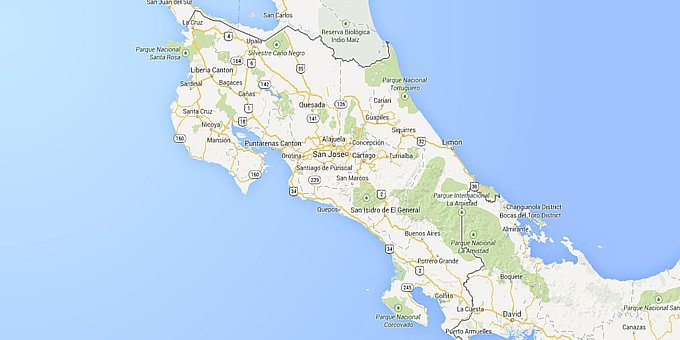 Costa Rica Maps Where Is Costa Rica - Map of costa rica