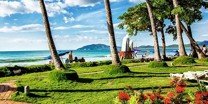 Tamarindo is not only Costa Rica's premier surf destination but also a terrific place for swimming and boogie boarding.
