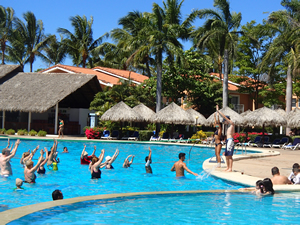 Pool aerobics is a popular activity at many Costa Rica all inclusive resorts.