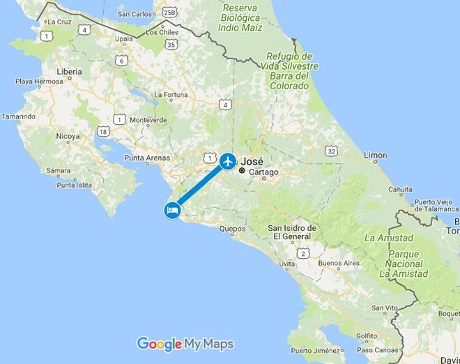 Best Western Jaco Beach Resort Vacation Map