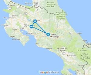 Coco Loco Adventure Costa Rica Vacation Map