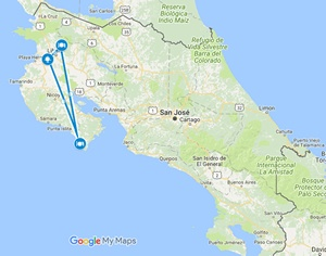Small map for this itinerary