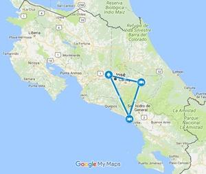 Pure Adrenaline Adventure Costa Rica Vacation Map